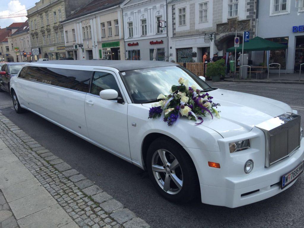stretchlimousine mieten als Hochzeitsauto in Wien